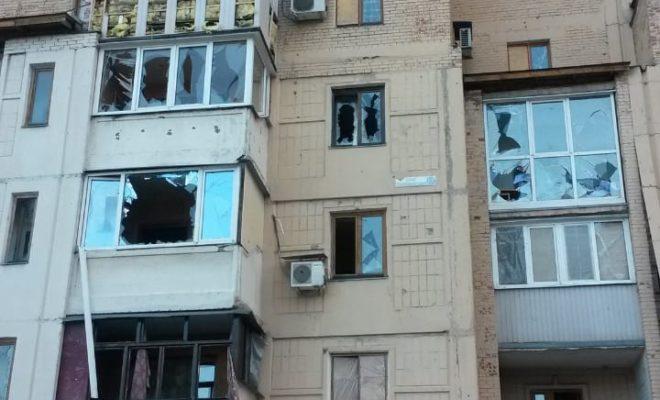 Следы войны в Донецке
